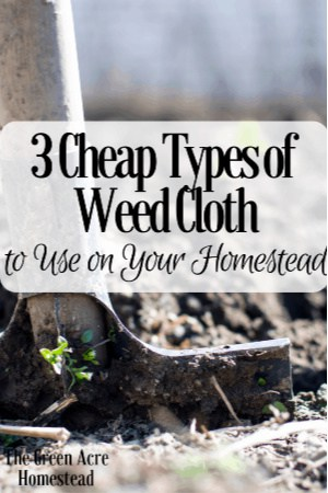3 cheap types of weed cloth