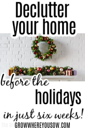 declutter before the holidays