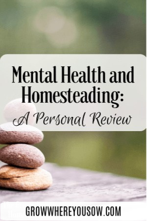 mental health and homesteading
