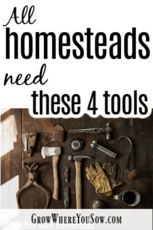 four tools on the homestead
