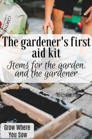 gardener's first aid kit