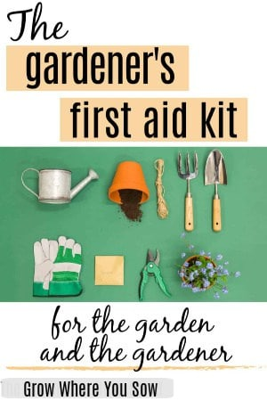 first aid kit for the gardener