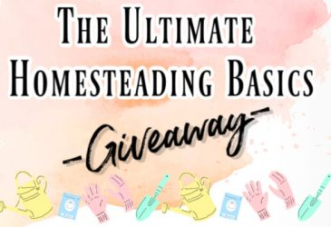 The Ultimate Homesteading Basics Giveaway