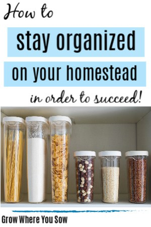 stay organized on the homestead