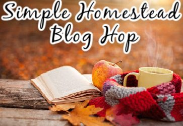 "picture of a book and a mug in a fall setting with the words ""Simple homestead blog hop"""