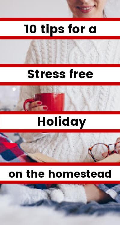 stress free holiday pinning image